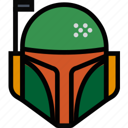 boba, cinema, fett, film, movie icon