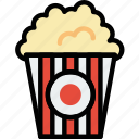 popcorn, movie, film, cinema icon