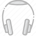headphones, music, play, sound icon