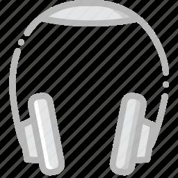 headphones, music, play, sound icon