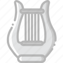 harp, music, play, sound icon