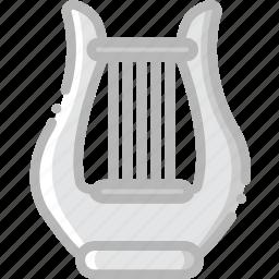 harp, music, play, sound icon