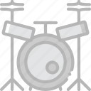 drum, music, play, set, sound icon