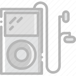 ipod, music, play, sound icon
