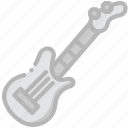 electric, guitar, music, play, sound icon
