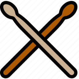 drum, music, play, sound, sticks icon