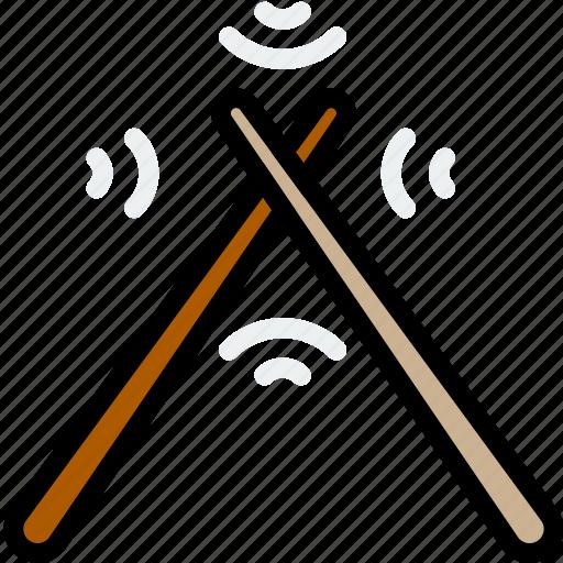 drum, music, play, sound, sticks icon