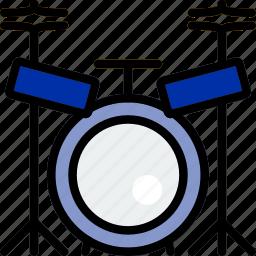 drum, music, play, set, sound icon
