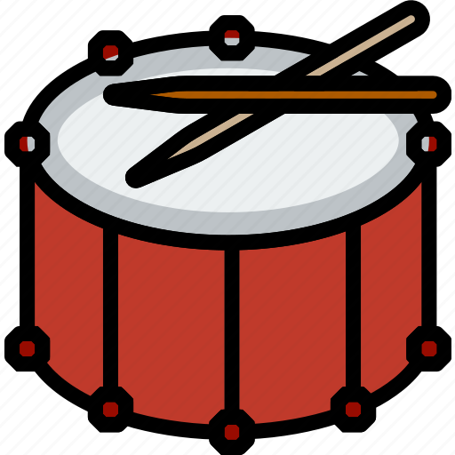 drum, fanfare, music, play, sound icon