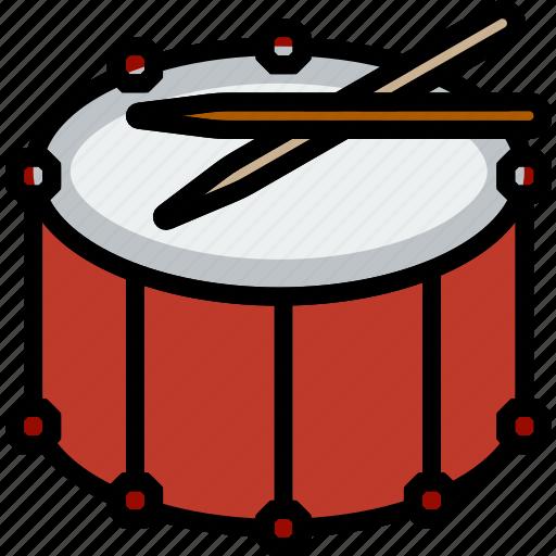 drum, fanfare, music, play, sound icon