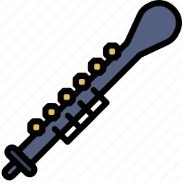 music, oboe, play, sound icon