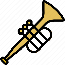 music, play, sound, trumpet icon