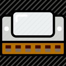 harmonica, music, play, sound icon