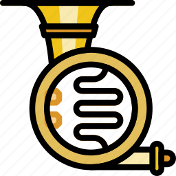 french, horn, music, play, sound icon