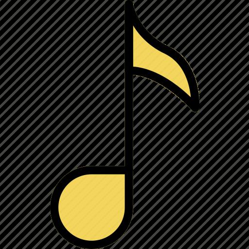 music, play, quaver, sound icon