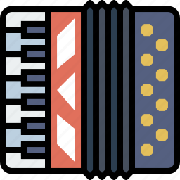 accordion, music, play, sound icon