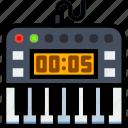 digital, music, piano, play, sound