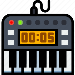 digital, music, piano, play, sound icon