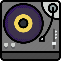 music, play, sound, turntable icon