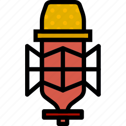condenser, microphone, music, play, sound icon