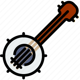 banjo, music, play, sound icon