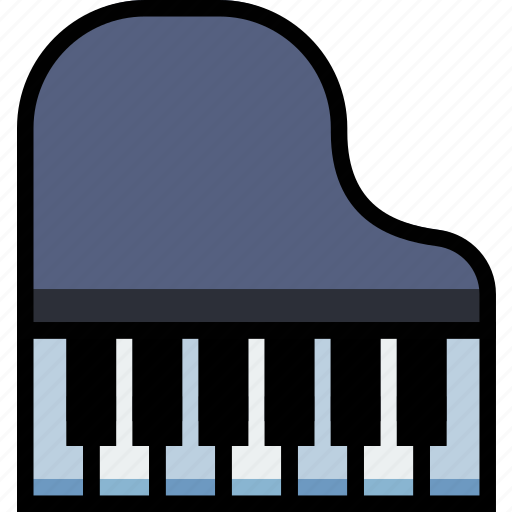 music, piano, play, sound icon
