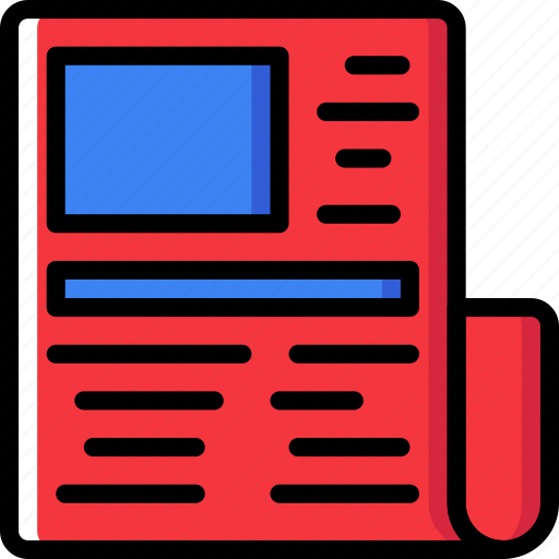 communication, media, news, newspaper icon