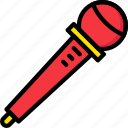 communication, media, microphone, new, news icon