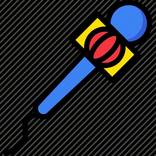communication, media, microphone, new, news icon