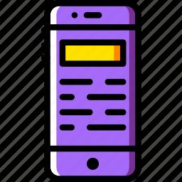article, communication, media, news, phone icon