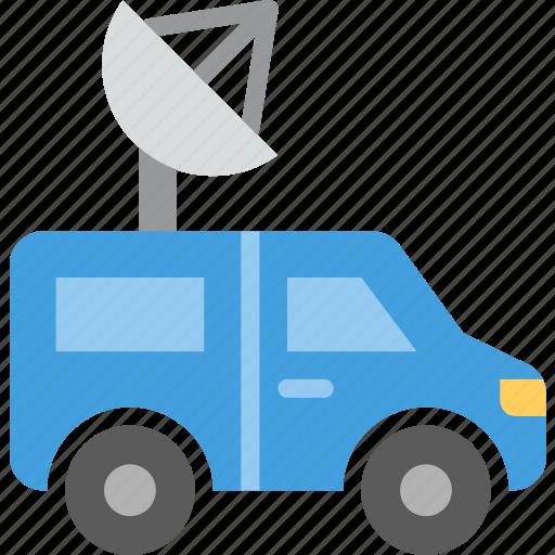 car, communication, media, news icon