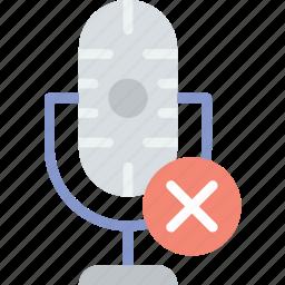 communication, delete, media, microphone, news icon