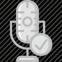 communication, media, microphone, news, success icon