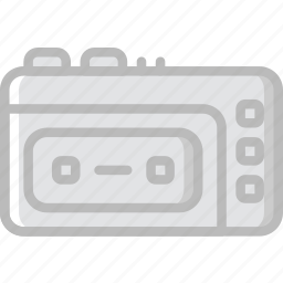 communication, media, news, recorder, tape icon