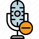communication, media, microphone, news, substract icon