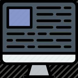 article, communication, media, news, web icon