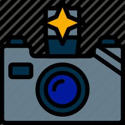 camera, communication, flash, media, news icon