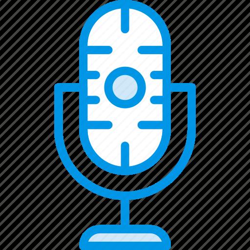 communication, media, microphone, news icon
