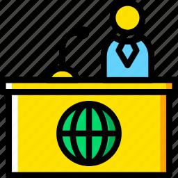 communication, media, news, talkshow icon