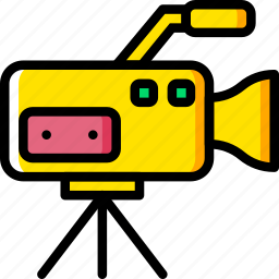 camera, communication, media, news, set icon