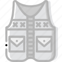 craft, fishing, outdoor, vest, wild icon