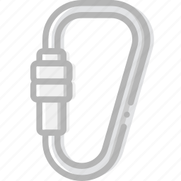 carabiner, craft, outdoor, wild icon