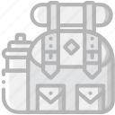 backpack, craft, hiking, outdoor, wild icon