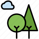 forest, outdoors, wild icon