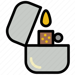 forest, lighter, outdoors, wild icon