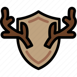 forest, hunting, outdoors, trophy, wild icon