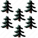 forest, outdoors, pines, wild icon