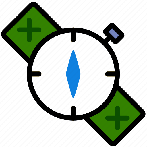compass, forest, outdoors, survival, wild icon
