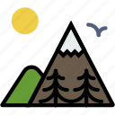 forest, mountainside, outdoors, wild icon