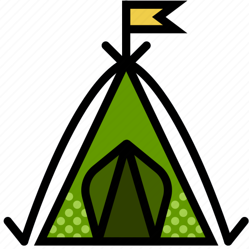 forest, outdoors, tent, wild icon